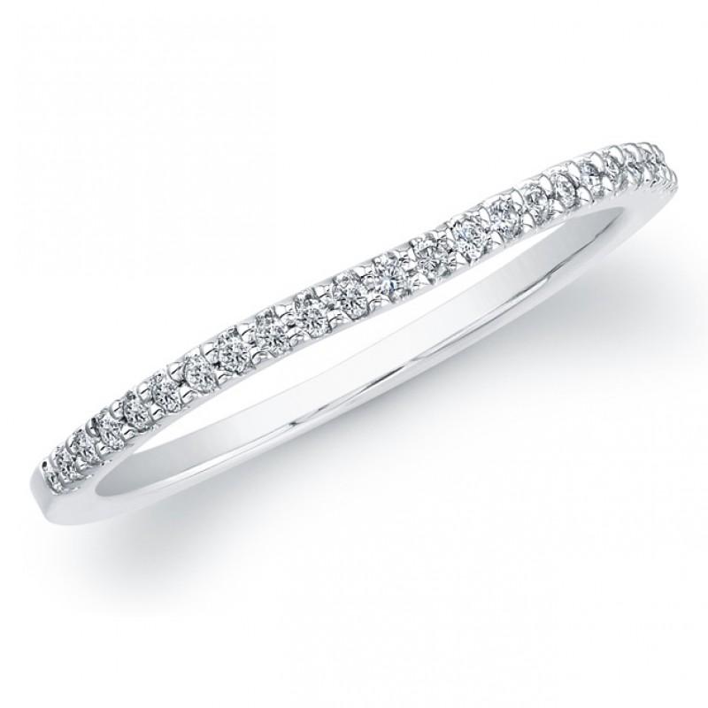 14k White Gold Timeless Diamond Wedding Band