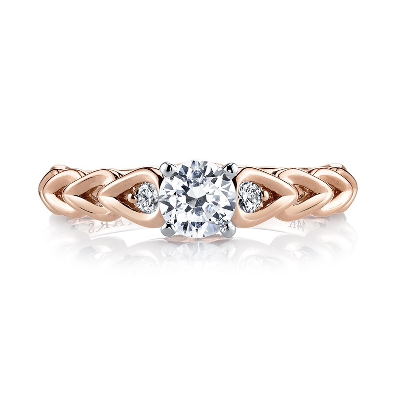 MARS 25803 Diamond Engagement Ring 0.09 Ctw.