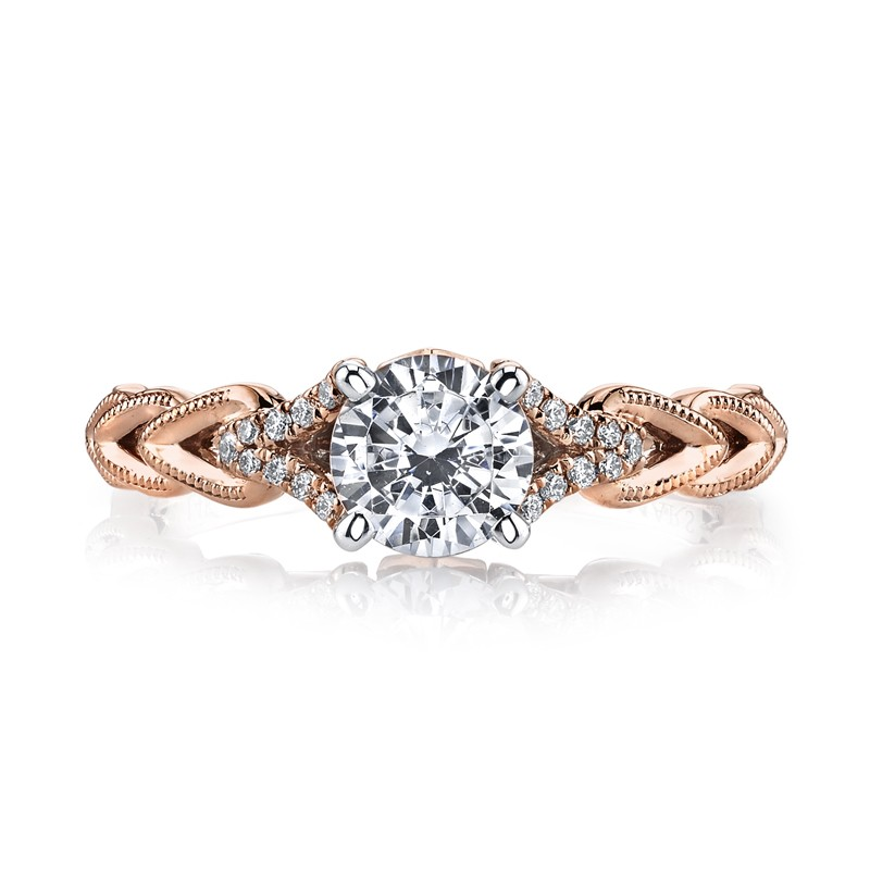 MARS 25816 Diamond Engagement Ring 0.08 Ctw.