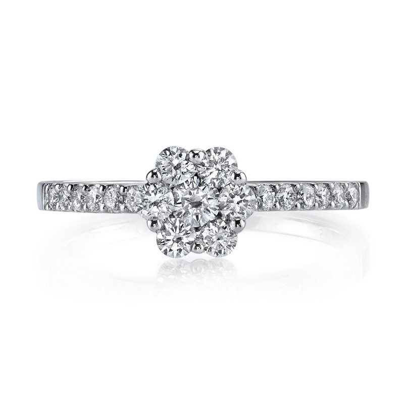 MARS 26159 Diamond Engagement Ring, 0.56 Ctw.