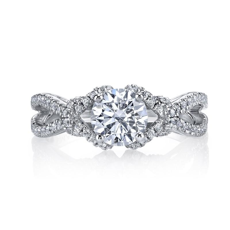 MARS 26172 Diamond Engagement Ring 0.39 Ctw.