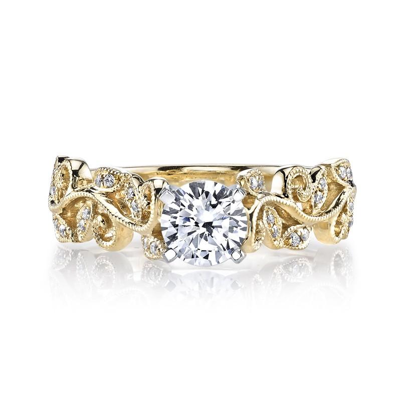 MARS 26504 Diamond Engagement Ring 0.07 Ctw.
