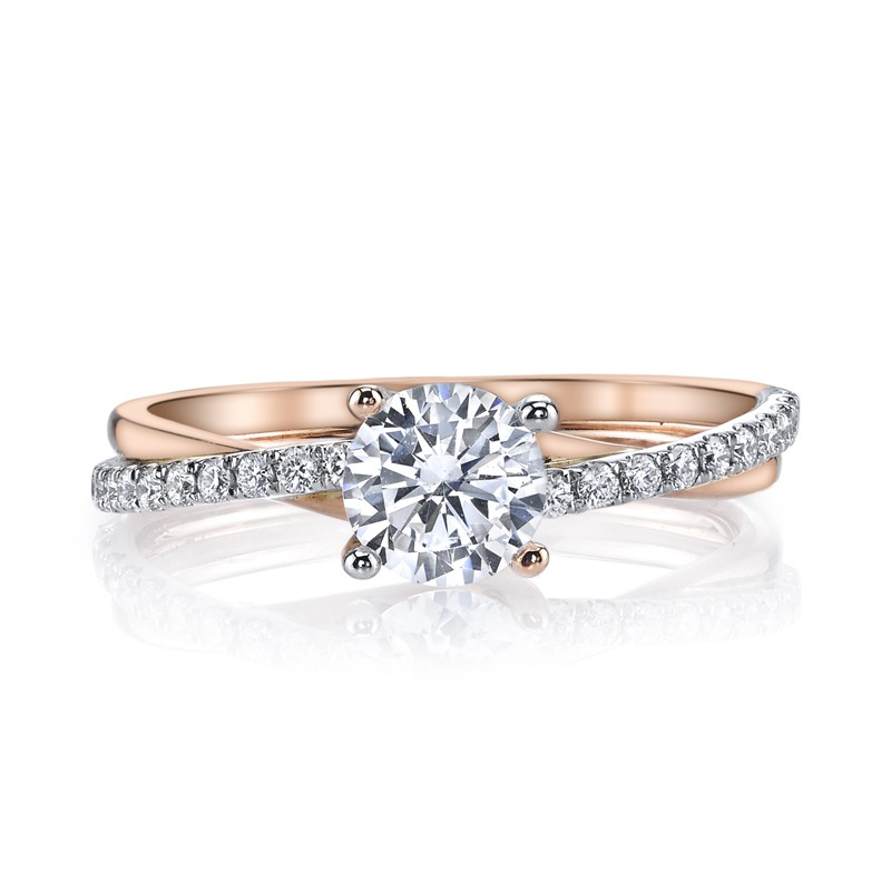 MARS 26509 Diamond Engagement Ring 0.17 Ctw.