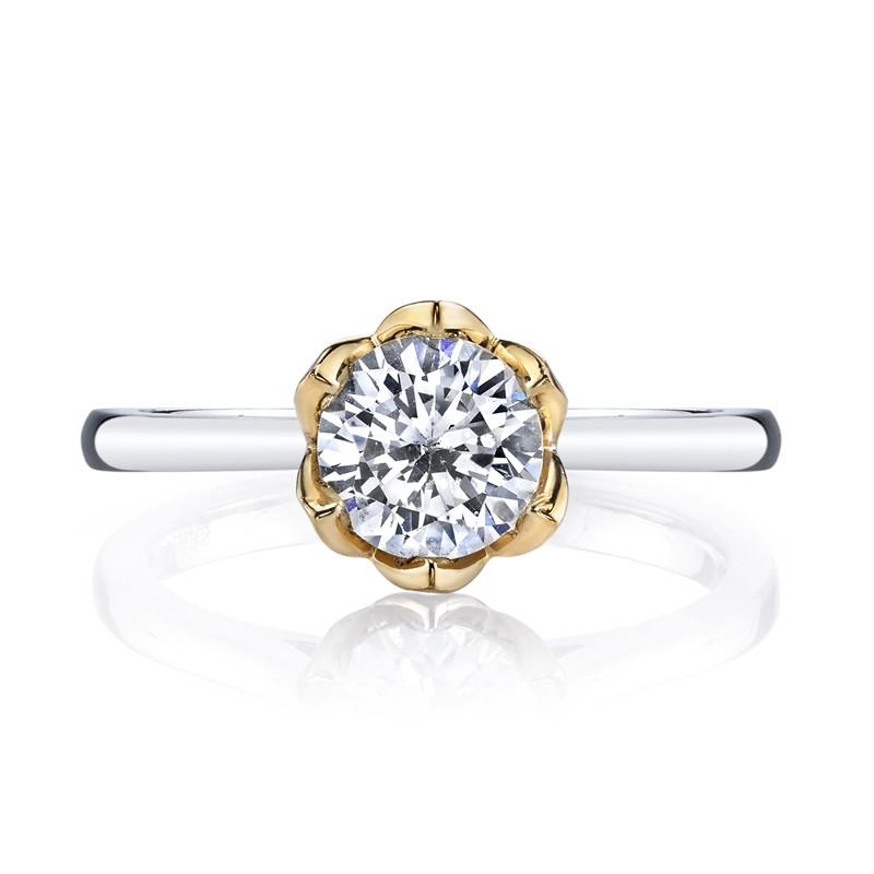 MARS 26515 Diamond Engagement Ring 0.02 Ctw.