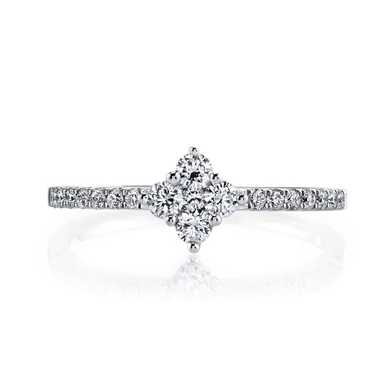 MARS 26564 Diamond Engagement Ring 0.42 Ctw.