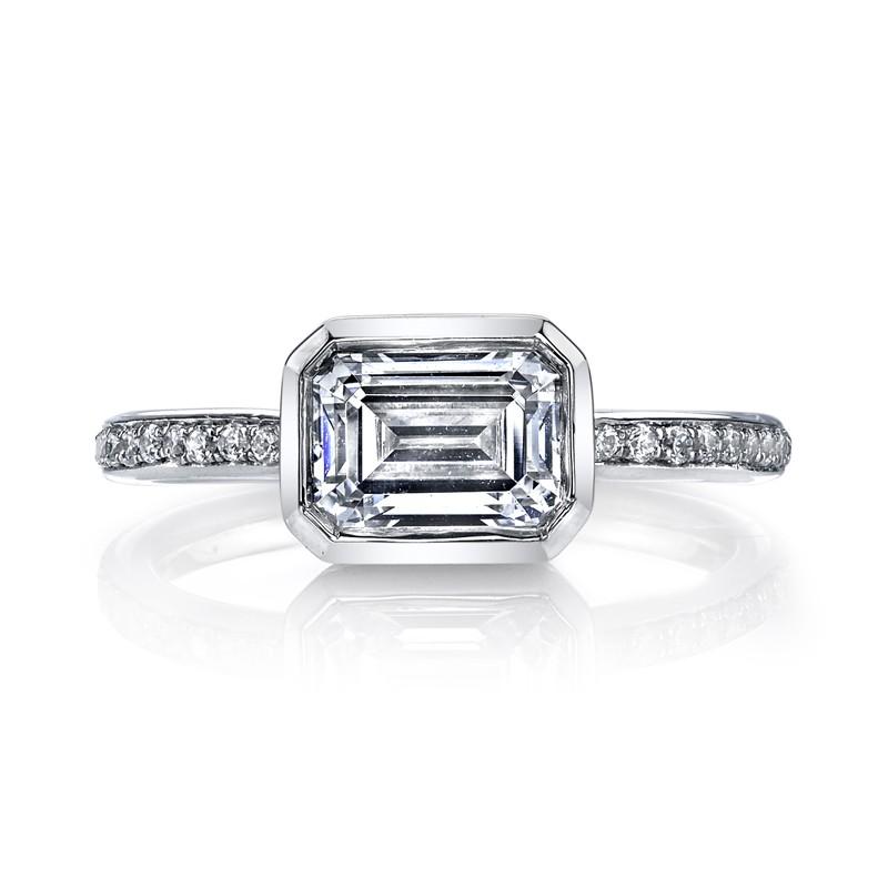 MARS 26705D Diamond Engagement Ring 0.12 Ctw.