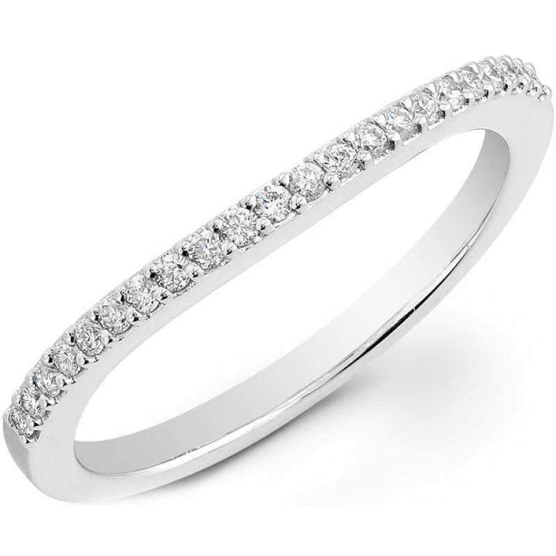 14k White Gold Prong Diamond Wedding Band NK20506WED-W