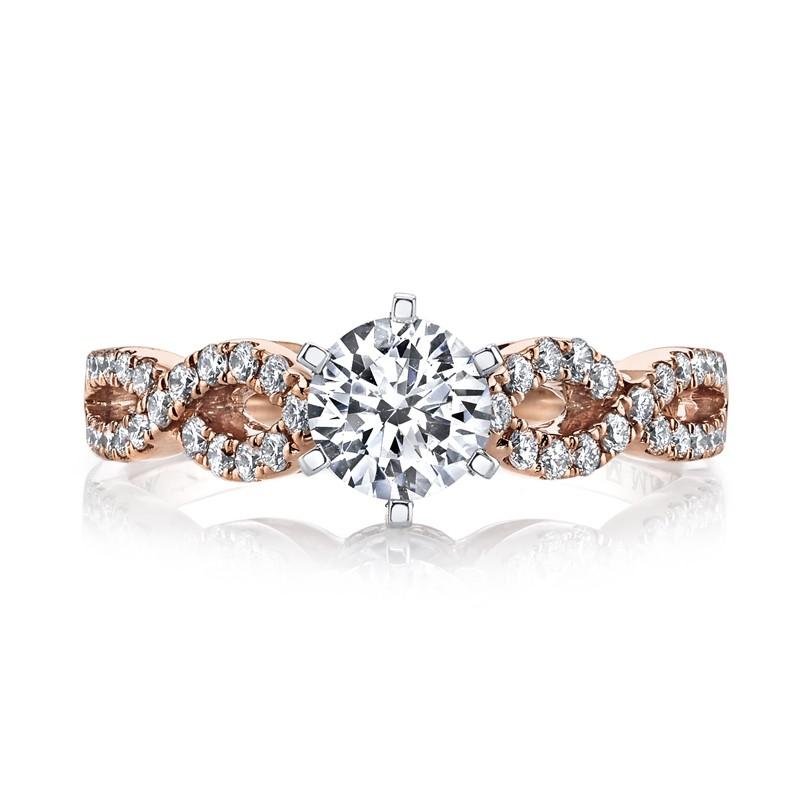 MARS 25840 Diamond Engagement Ring 0.24 Ctw.
