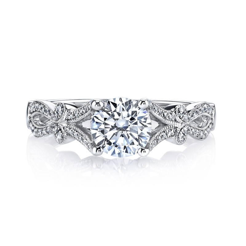 MARS 26247 Diamond Engagement Ring 0.20 Ctw.
