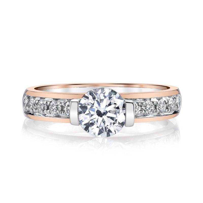 MARS 26517 Diamond Engagement Ring 0.37 Ctw.