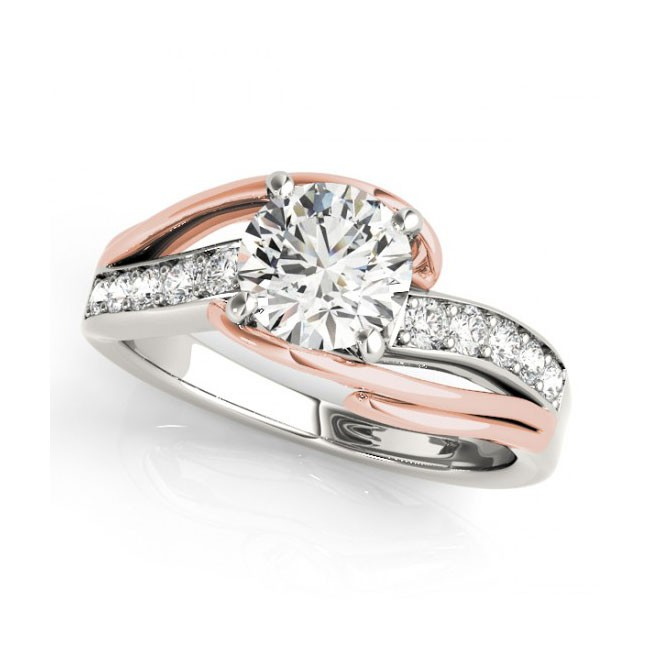 Two Tone Engagement Ring 84671