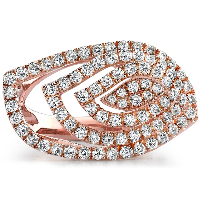 18k Rose Gold Fashion Diamond Band NK18558-R
