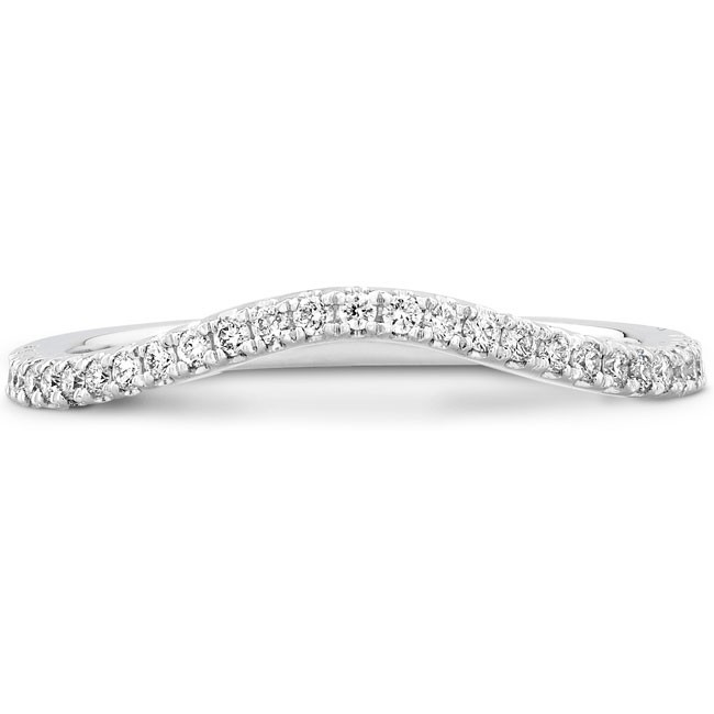 18k White Gold Pave Diamond Wedding Band NK19691WED-W