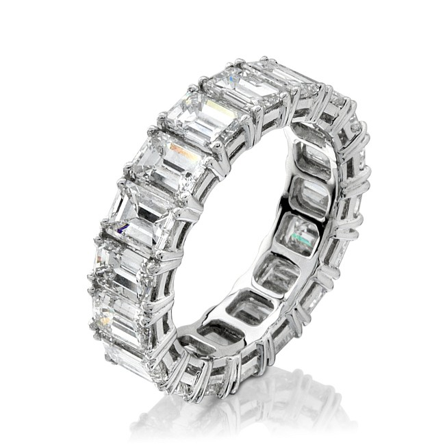 Platinum Classic Prong Diamond Eternity Band - NK7293PL