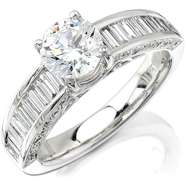 Platinum Channel And Pave Ladies Diamond Semi Mount