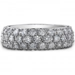 14k White Gold Diamond Pave Band