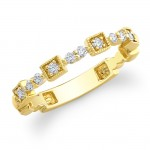 14k Yellow Gold Stackable Diamond Band