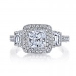 MARS 25229  Diamond Engagement Ring 0.76 Ct Rd,  0.51 Ct Trp.