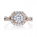 MARS 25560  Diamond Engagement Ring 0.58 Ctw.