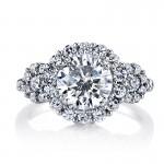 MARS 25606 Diamond Engagement Ring 1.06 Ctw.