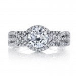 MARS 26203 Diamond Engagement Ring 0.58 Ctw.