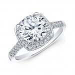 18k White Gold Diamond Semi-Mount Engagement Ring