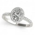 Halo Engagement Ring OV 83497-10X8