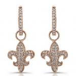 14k Rose Gold Fleur De Lys Earrings
