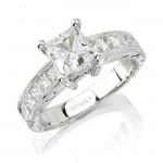 14k White Gold Princess Cut Diamond Engagement Ring NK10349-W