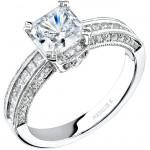 14k White Gold Channel Princess Cut Diamond Semi Mount - NK15022-W