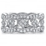 14k White Gold Fashion Diamond Band NK15406-W