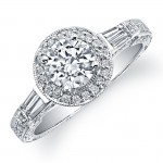 18k White Gold Diamond Engagement Semi Mount Ring NK9650-W