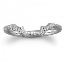 18k White Gold Curved Diamond Wedding Band