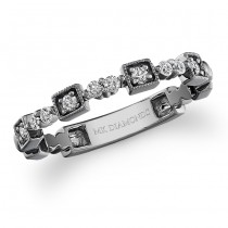 14k Black Gold Diamond Stackable Ring
