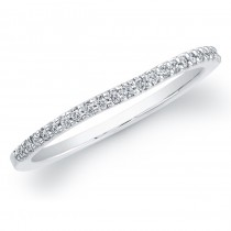 14k White Gold Timeless Diamond Wedding Band