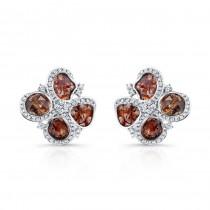 18k White Gold Diamond Sliver and White Diamond Earrings