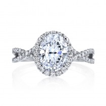 MARS 25156  Diamond Engagement Ring 0.43 Ctw.