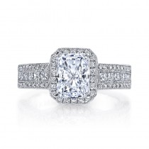 MARS 25322  Diamond Engagement Ring 0.72 Ct Rd, 0.47 Ct Pr.