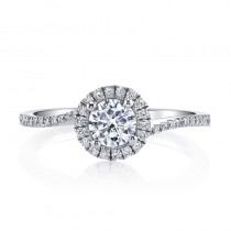MARS 25393  Diamond Engagement Ring 0.22 Ctw.