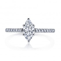 MARS 25451 Diamond Engagement Ring 0.28 Ctw.