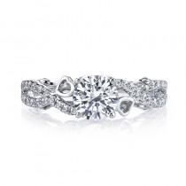 MARS 26129 Diamond Engagement Ring, 0.39 Ctw.