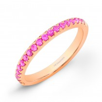 14k Rose Gold Pink Sapphire Band