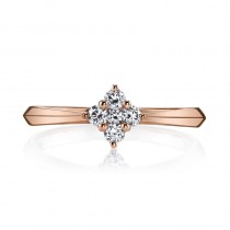 MARS 26563 Diamond Engagement Ring 0.23 Ctw.