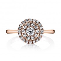 MARS 26633 Diamond Engagement Ring 0.53 Ctw.