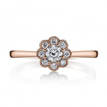 MARS 26634 Diamond Engagement Ring 0.37 Ctw.