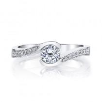 MARS 28173 Diamond Engagement Ring 0.13 Ctw.