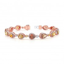 18k Rose Gold Fancy Color Diamond Bracelet