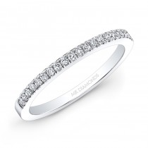 14k White Gold White Diamond Wedding Band
