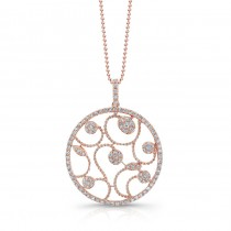 18k Rose Gold Diamond Fashion Pendant