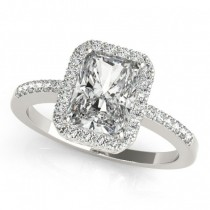 Halo Engagement Ring EC 83495